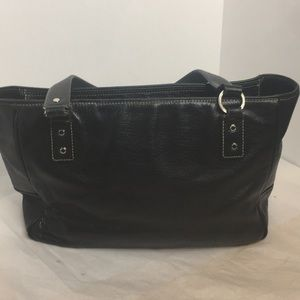 Kate Spade ♠️ New York black leather tote